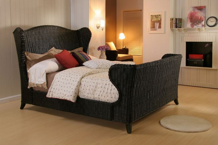 black wicker bedroom furniture - bedroom interior decoration ideas