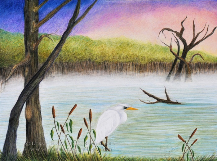 Morning In The Marsh by Lissa Rachelle - Artist http://lissarachelle.com/ https://www.facebook.com/lissarachelleartist https://www.etsy.com/ca/shop/LissaRachelle