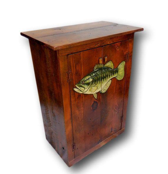 Custom Fish Cabinet Bass Cabinet Fish Furniture By WoodzyShop