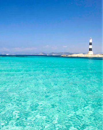 Blue waters at Formentera, Islas Baleares - Spain