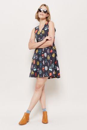 Face To Face Denim Dress