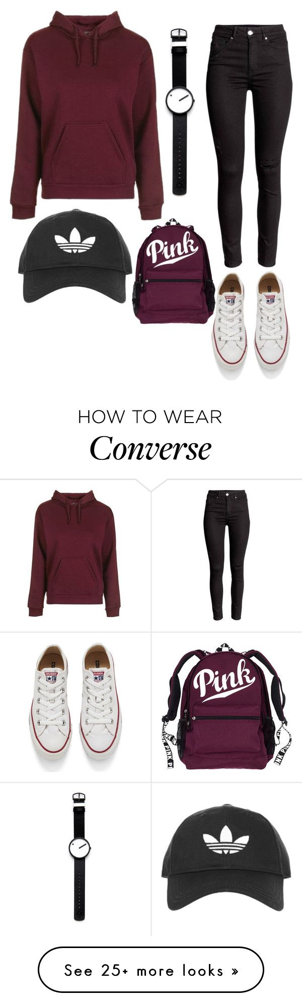 """""""Untitled #879"""" by zeniboo on Polyvore featuring Topshop, Rosendahl and Converse"""