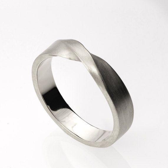 Anillo Mobius anillo de platino anillo boda anillo por doronmerav