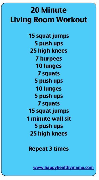 10 Workouts to do at Home.