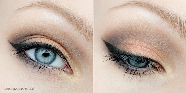 Dressed in Mint: make up. - orange + brown