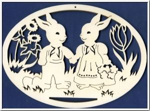 Fenêtre d'image quelques lapins