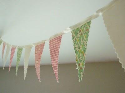 DIY fabric bunting: Idea, Diy'S, Birthday Parties, Diy Fabrics, Garlands, Bridal Shower, Fabrics Banners, Fabrics Buntings, Baby Shower