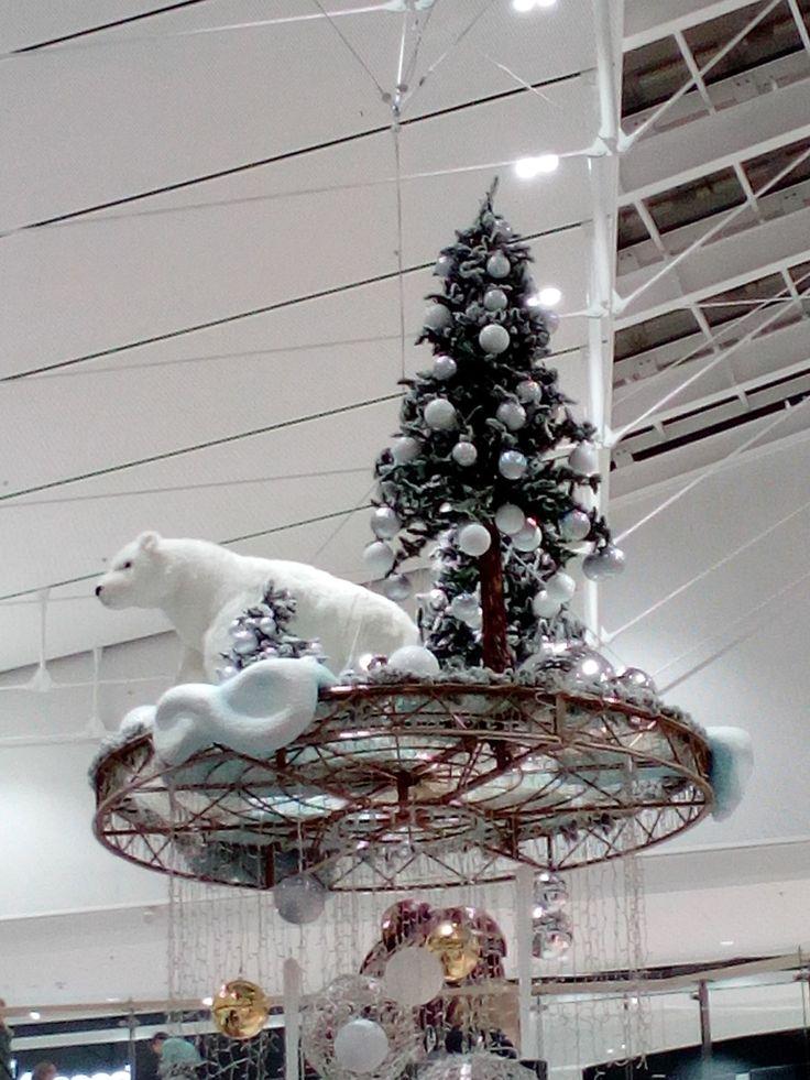 Świąteczna dekoracja / Christmas decoration | Galeria Północna | Warsaw, Poland