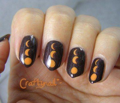 solar eclipse nails