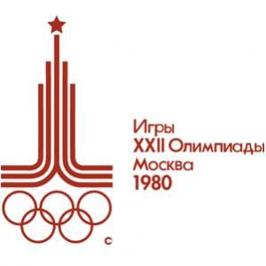 Official logo for the 1980 Olympic games in Moscow