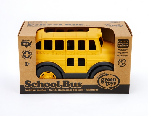 """green toys school bus - a great gift idea for the child who isn't going off to school on the """"Big"""" Bus. For ages 1+. $27.99 RV"""