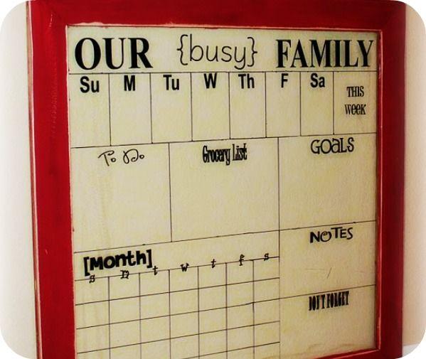 Dry Erase Calendar Boards : Images about diy boards chalk dry erase bulletin