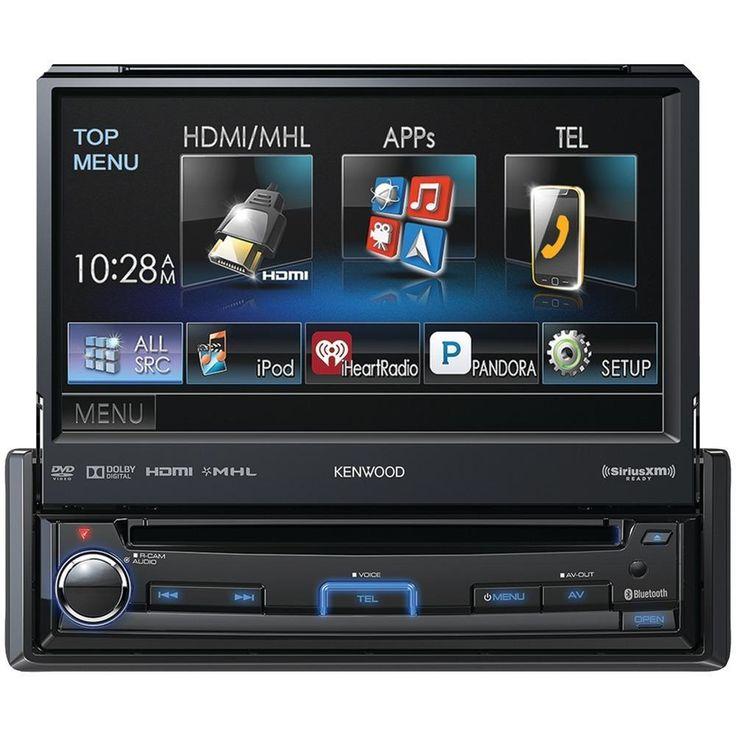 KENWOOD KVT-7012BT 6.95 Single-DIN In-Dash Motorized LCD Touchscreen DVD Receiver with Bluetooth(R), True Mirroring, Pandora(R) Internet Radio Compatible & SiriusXM(R) Ready