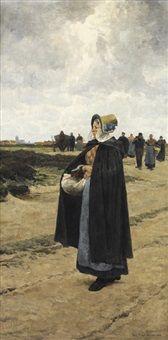 Le retour des champs by Frans van Leemputten