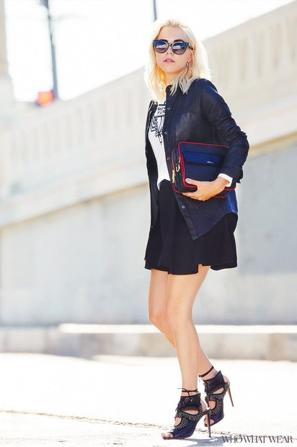 Courtney Trop of Always Judging styles the perfect street style ensemble, perfect for fall.