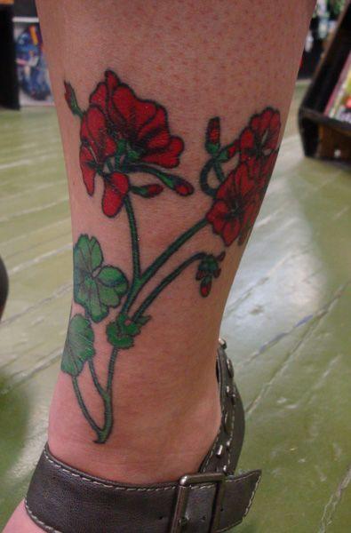 Geranium tattoo