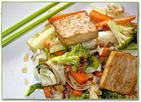 Helyn's Healthy Kitchen: Roasted Vegetable & Tofu Teriyaki