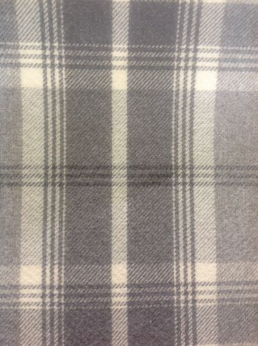 BALMORAL TARTAN LARGE CHECK By The Meter In Grey And White £20