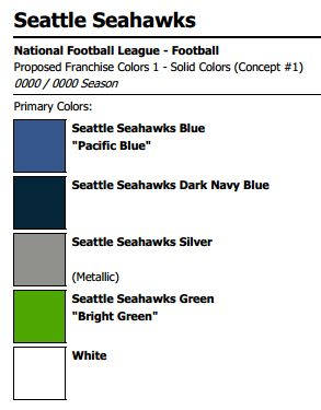 Seahawk Paint Color Chart
