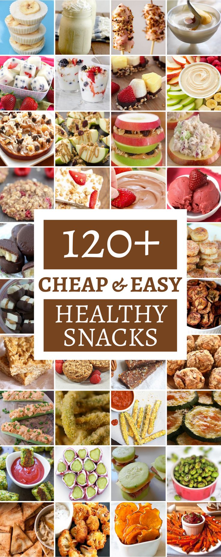 120 Cheap & Healthy Snacks