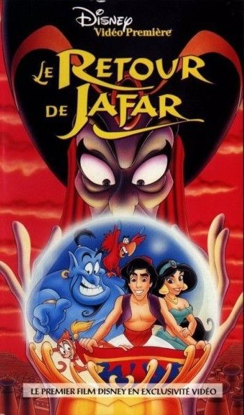Affiche du dessin animé Le Retour de Jafar sortie en 1994