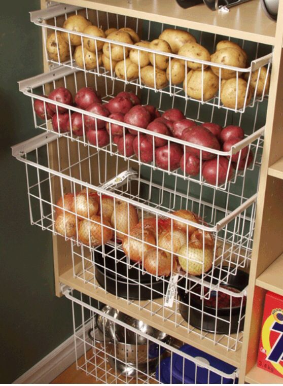 Ikea pull-out baskets for pantry