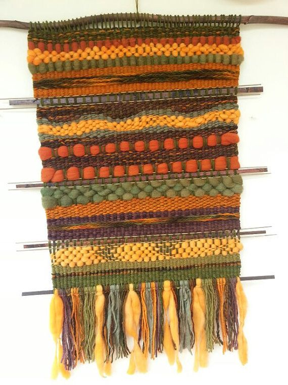 Handwoven wall hanging by WovenHomeArt on Etsy, $200.00
