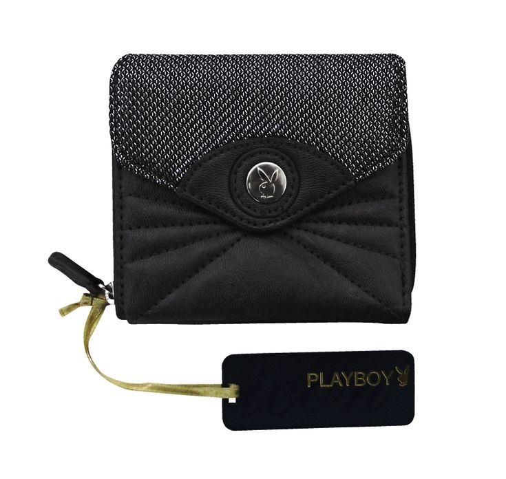 Cartera Playboy Pewter Leatherette Black