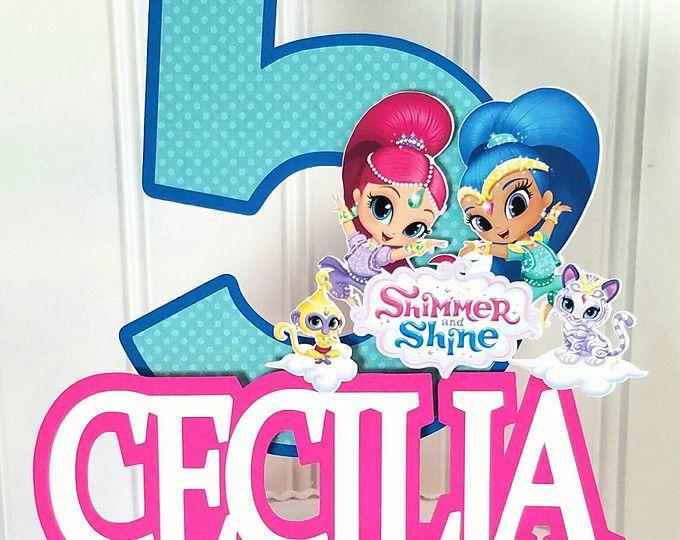 Shimmer Shine Cake Topper, Shimmer Shine cake, Shimmer Shine birthday, Shimmer  Shine party supplies, Shimmer Shine party, Aladdin birthday