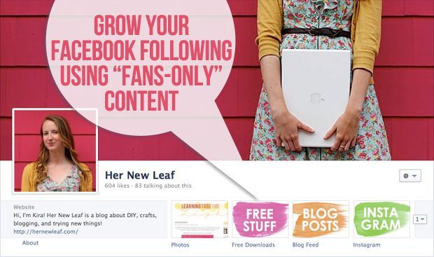 Grow Your Facebook Following Using Fans-Only Content: Facebook Fanson, Fans On Content, Brushes Strokes, Facebook News, Content Facebook, Facebook Follow, Create Fans, Content Hernewleaf, Facebook Fans Only Cont