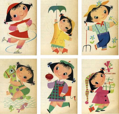 1954 Meadow Gold Mary Blair calendarPhoto by grickily on Flickr