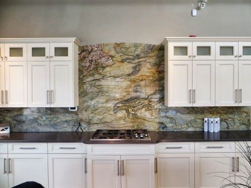 Marmol Export Usa White Fusion Granite Kitchen