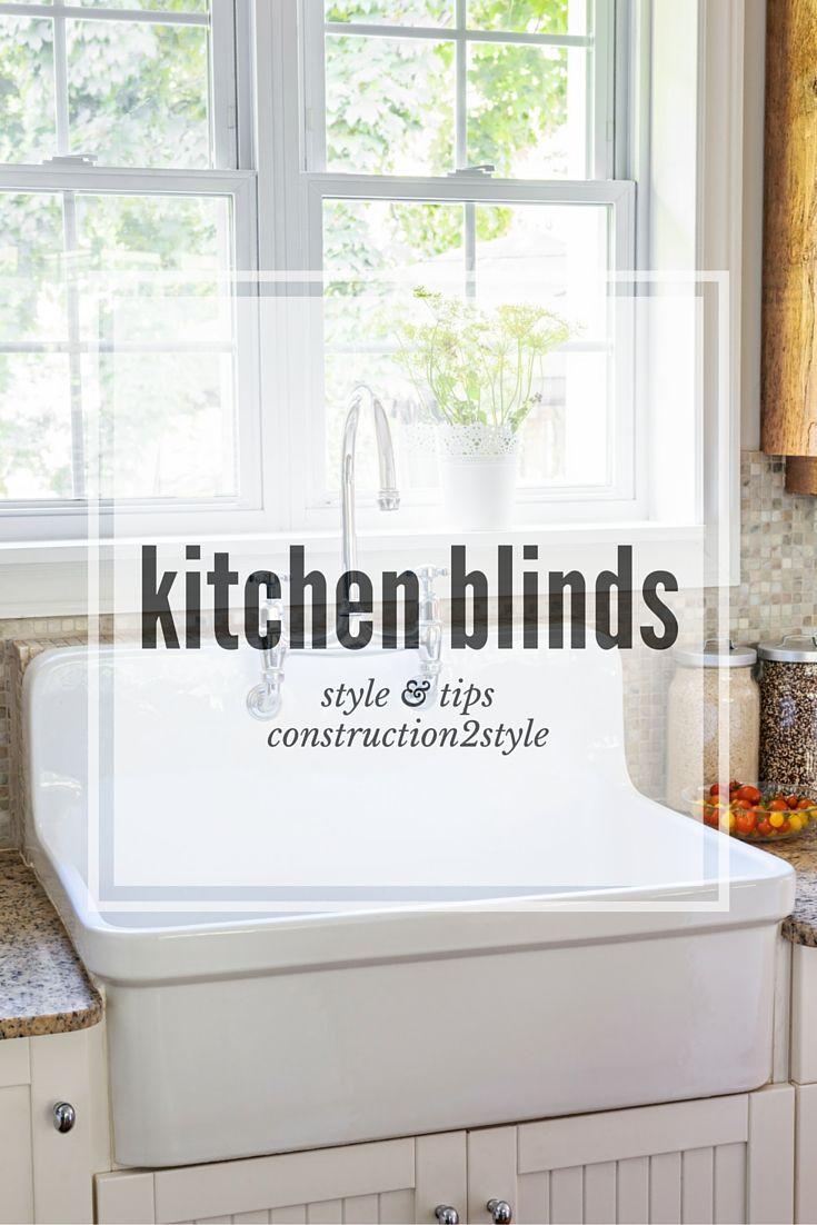 + ideas about Kitchen Blinds on Pinterest  Kitchen window treatments ...