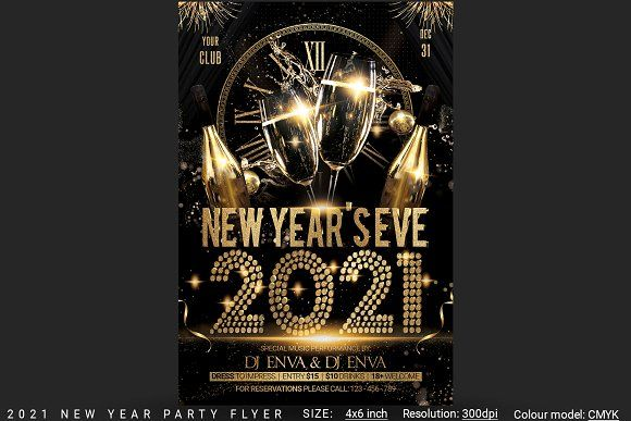 2021 New Years Eve Party Flyer in 2020 | Party flyer, New years eve party, Eve parties