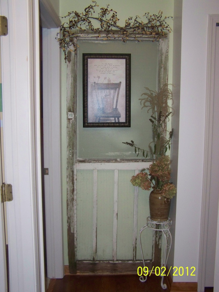 Old Screen Door At The End Of My Hallway.