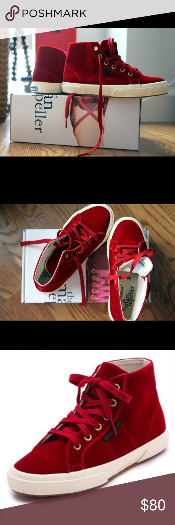 SUPERGA MAN REPELLER RED SNEAKERS. Worn only once! Comfy and trendy sneakers. Great condition hardly worn. Superga Shoes Sneakers