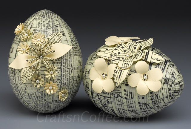 Gorgeous eggs made with Tim Holtz Tissue Tape. Part of the crafty Eggstravaganza on CraftsnCoffee.