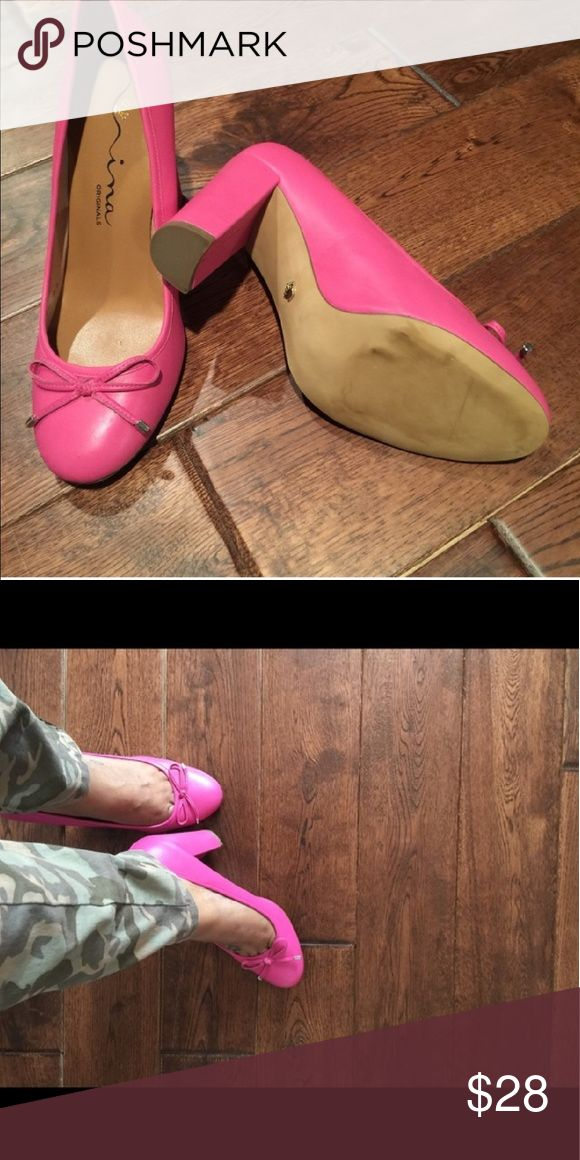 Nina Pink Leather Pumps👠 Super cute pink leather pumps. Only worn once, indoors. Perfect condition. *No box Nina Shoes Heels