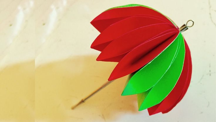 Paper Umbrella kids craft | Arts and crafts - Kids Room Decor | Mothers day gift idea