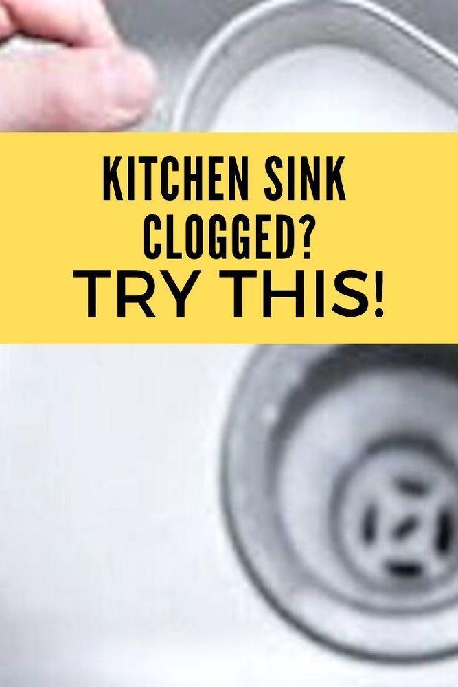 Diy Kitchen Sink Clogged Solution In 2020 Kitchen Sink Diy Kitchen Sink Clogged Sink