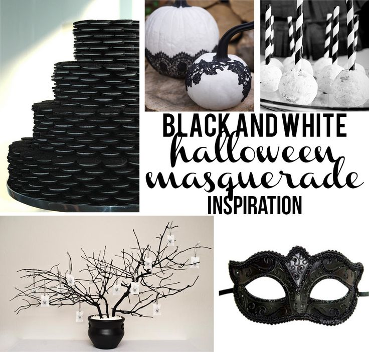 Black and White Halloween Masquerade Inspired Party - Party Contributor - Organize and Decorate Everything