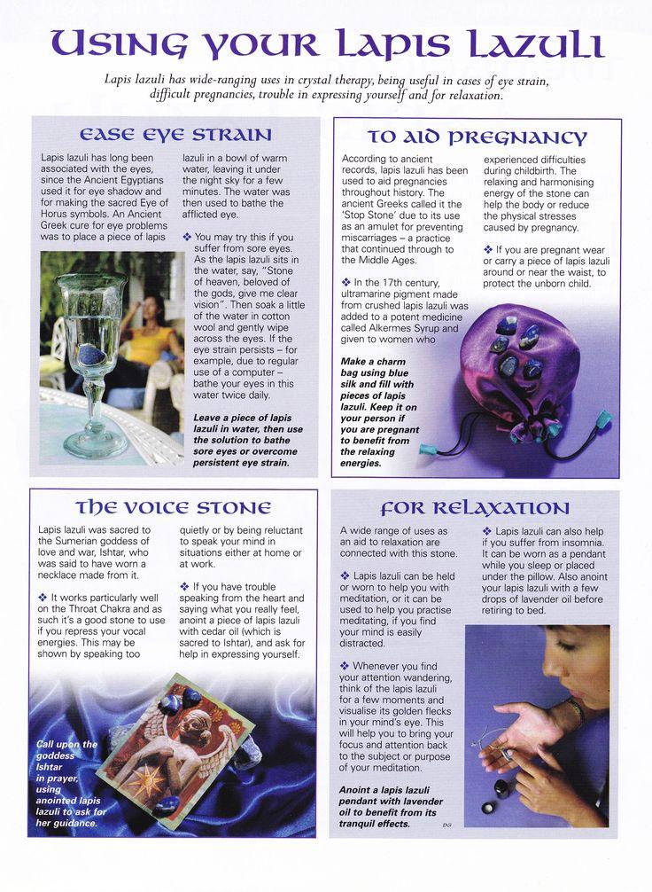 Crystals & Stones:  Using Your #Lapis #Lazuli.