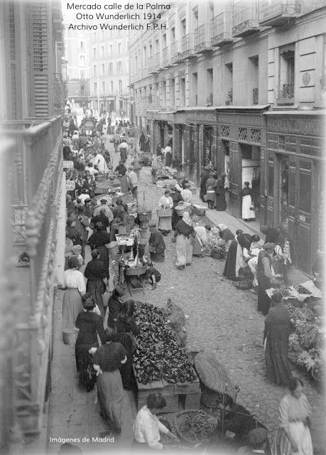 Mercado Calle de la Palma. Otto Wundelich 1914  IMAGENES ANTIGUAS DE MADRID: MADRID VISTO POR UN ALEMÁN (I)