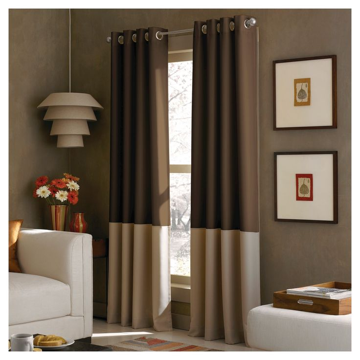 Curtainworks Kendall Lined Curtain Panel - Chocolate (Brown) (120)