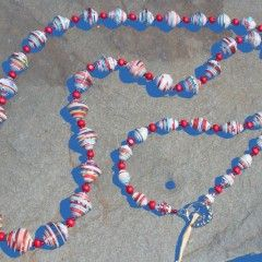 Paper Bead Necklaces Cut on the Cross