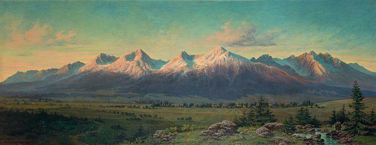 František Klimkovič. Tatranská krajina, 1887