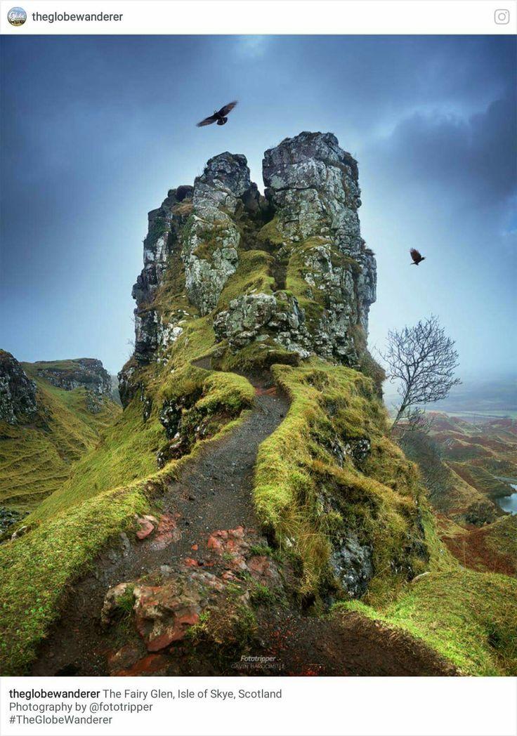 The Fairy Glen on the Isle of Skye, Scotland