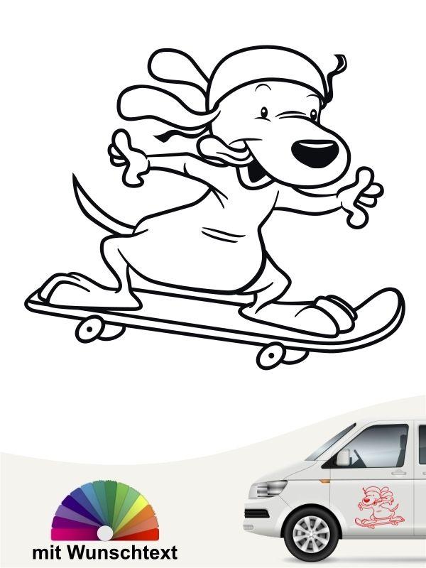 Hund Dog Auto Wunschtext Gestalten Verschiedene Farben
