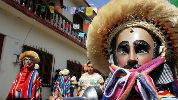 Parachico dancer, Chiapas, Mexico