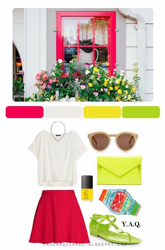 Y. A. Q. - Blog de moda, inspiración y tendencias: [Inspiración Color] Ventana veraniega